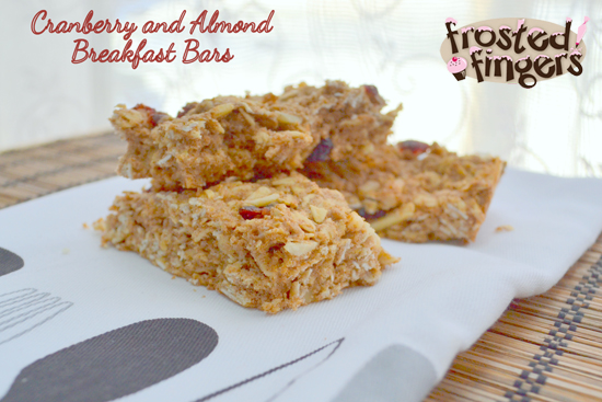 Cranberry and Almond Snack Bars