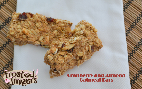 Cranberry and Almond Oatmeal Bars