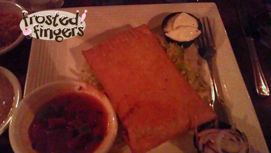 Chimichanga at Crab Island Cantina