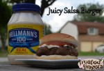 Juicy Salsa Burger Recipe by Mario Batali and Hellmann's