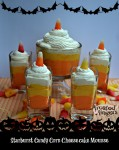 Starburst Candy Corn Cheesecake Mousse
