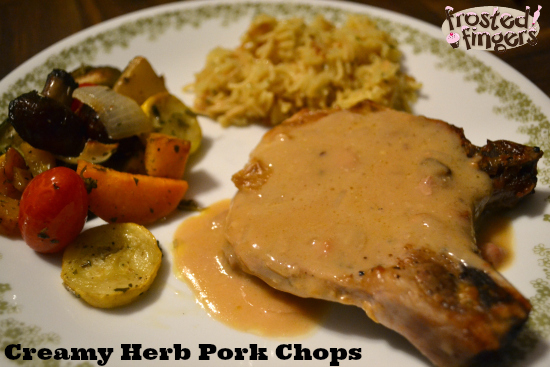 Creamy Herb Pork Chops