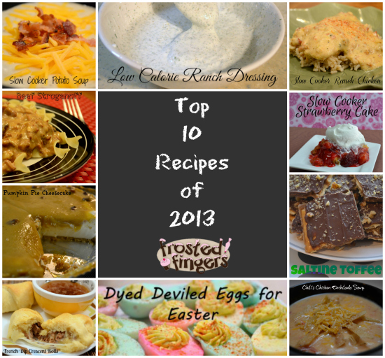 Top 10 Recipes of 2013 Frosted Fingers