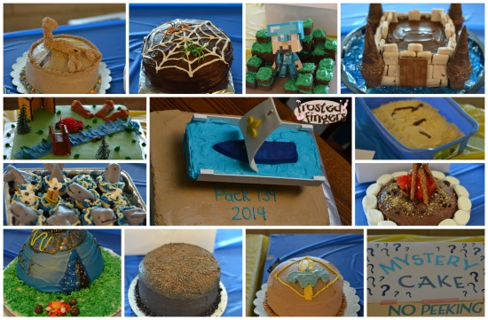 Blue and Gold Cake Auction