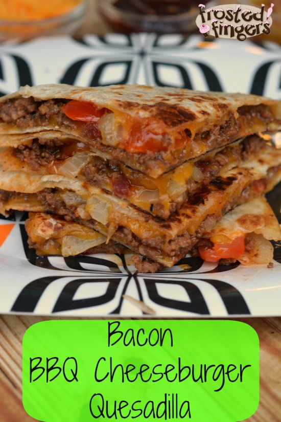 Bacon BBQ Cheeseburger Quesadilla
