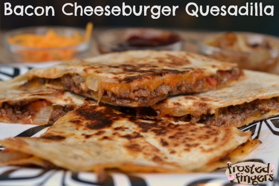 BBQ Bacon Cheeseburger Quesadilla