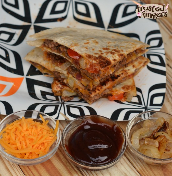Bacon BBQ Cheeseburger Quesadilla Recipe