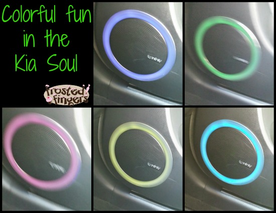 Colored Speakers in the Kia Soul