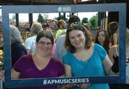 Rachael and I at the Tim McGraw Concert #APMusicSeries