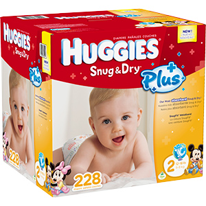 Huggies Snug and Dry Plus at Costco