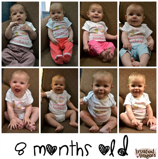 8 month collage