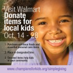 Help Kids in Need with Champions for Kids at Walmart
