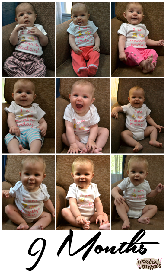 9 months of baby pictures
