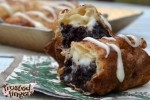 Fried Chocolate Cake with Cream Cheese Frosting