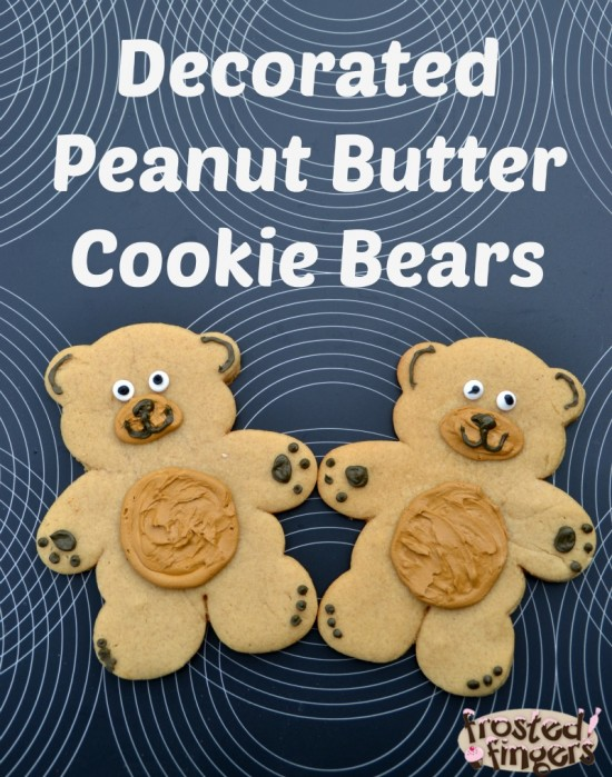 Decorated Peanut Butter Cookie Recipe - Frosted Fingers ...