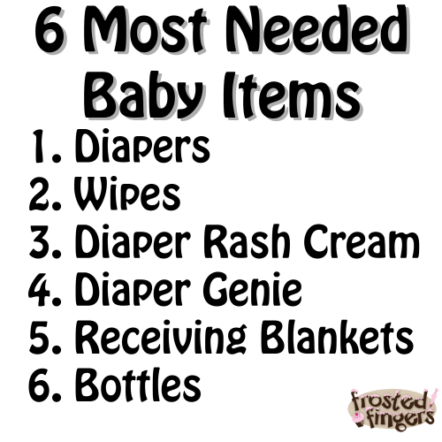 Most Needed Baby Items