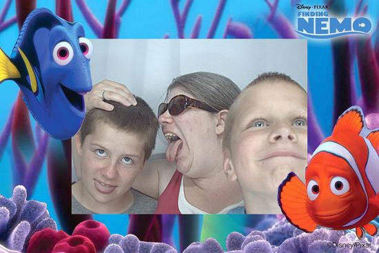 Photo Booth with Boys at Disney