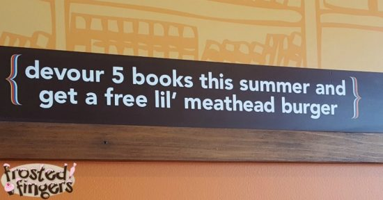 Meatheads rewards kids that read with a FREE lil' meathead burger.