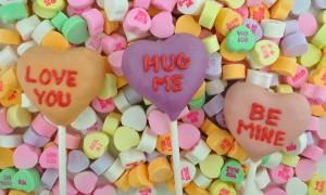 Valentine's Day Cake Pops Hearts