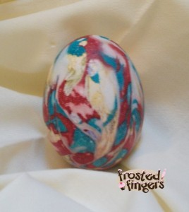 Silk Tie Easter Eggs, Tie Dyed Eggs