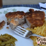 Parmesan and Sea Salt Melba Crusted Pork Chops #Recipe