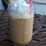 Frozen Caramel Coffee #Recipe #IcedDelight