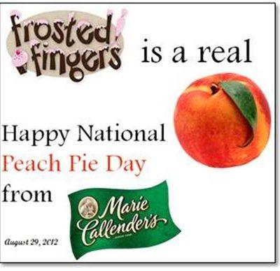 Happy National Peach Pie Day!