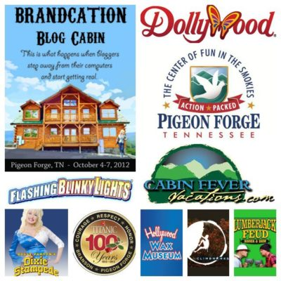 A thank you to our #Brandcation #PigeonForge Blog Cabin sponsors!