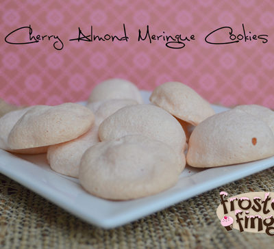 Cherry Almond Meringue Cookies