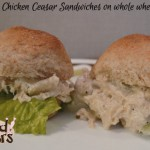 Slow Cooker Chicken Caesar Sandwiches on Whole Wheat Slider Buns with Fleischmann's Yeast