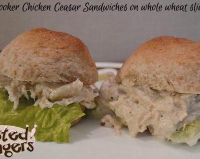 Slow Cooker Chicken Caesar Sandwiches on Whole Wheat Slider Buns with Fleischmann's Yeast