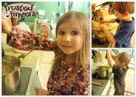 Making Mashed Potatoes #KidsInTheKitchen