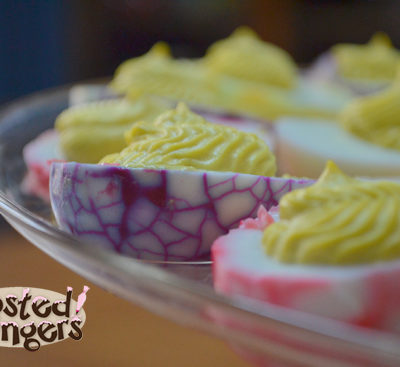 Crackled Deviled Eggs