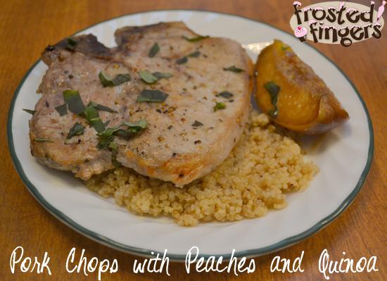 Pork Chops Peaches and Quinoa