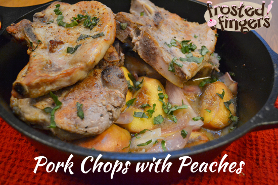 Pork Chops with peaches and Quinoa #CleanEating