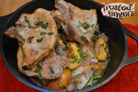 Pork Chops with Peaches and Quinoa