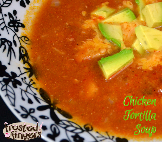 Chicken Tortilla Soup with Avocado #AmazingAvoCinco