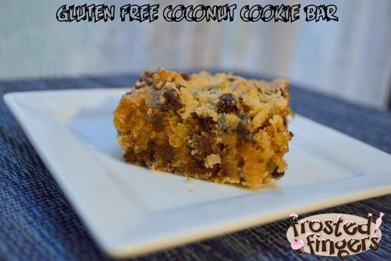 Gluten Free Coconut Cookie Bar