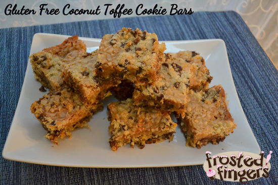 Gluten Free Coconut Toffee Cookie Bars