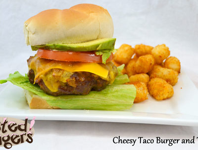 Cheesy Taco Cheeseburger and Taco Tots Recipe