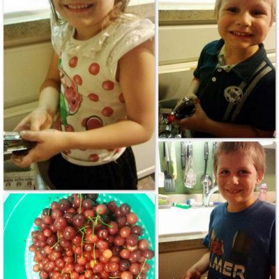 Cherries, Cherries Everywhere! Kids in the Kitchen