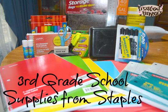 3rd Grade School Supplies from Staples