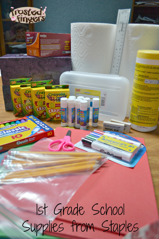 First Grade School Supplies from Staples