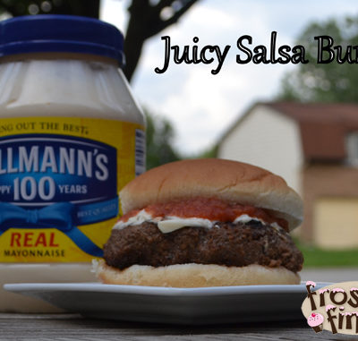Juicy Salsa Burger Recipe by Mario Batali and Hellmann's