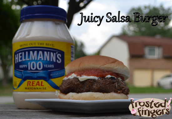 Hellmann's Juicy Salsa Burger by Mario Batali