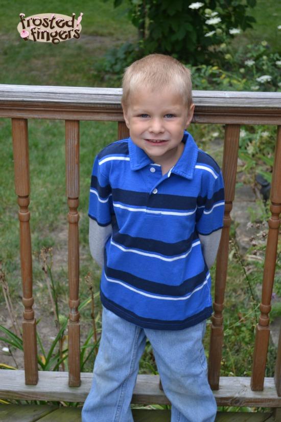 Little Man Kohl's Back to School Polo