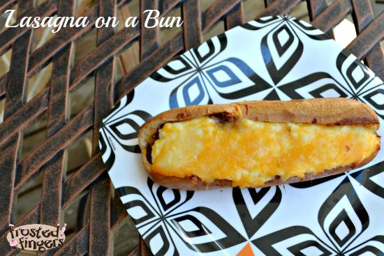 Baked Lasagna on a Bun