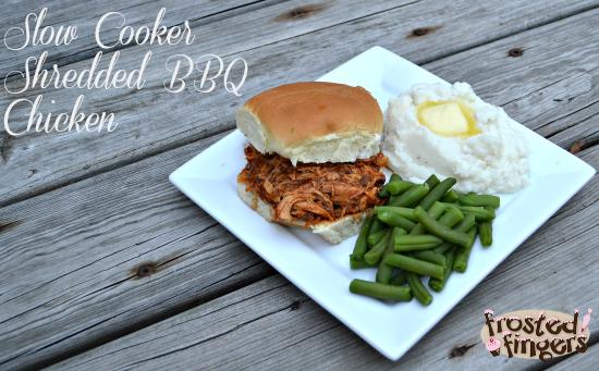 Slow Cooker Shredded BBQ Chicken Recipe
