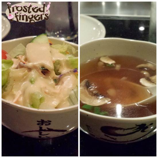 Aki Soup and Salad