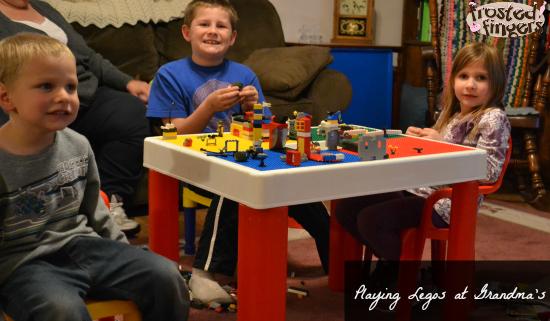 Legos at Grandmas